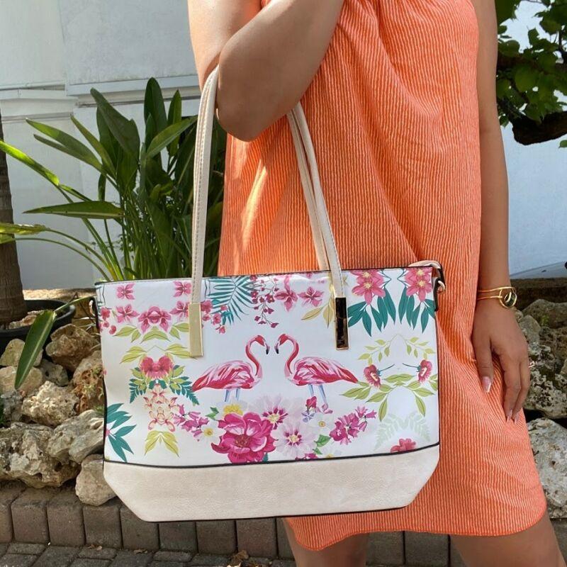 Flamingós táska