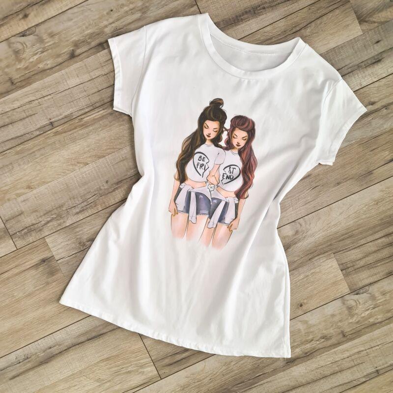 Pamut barátnős póló