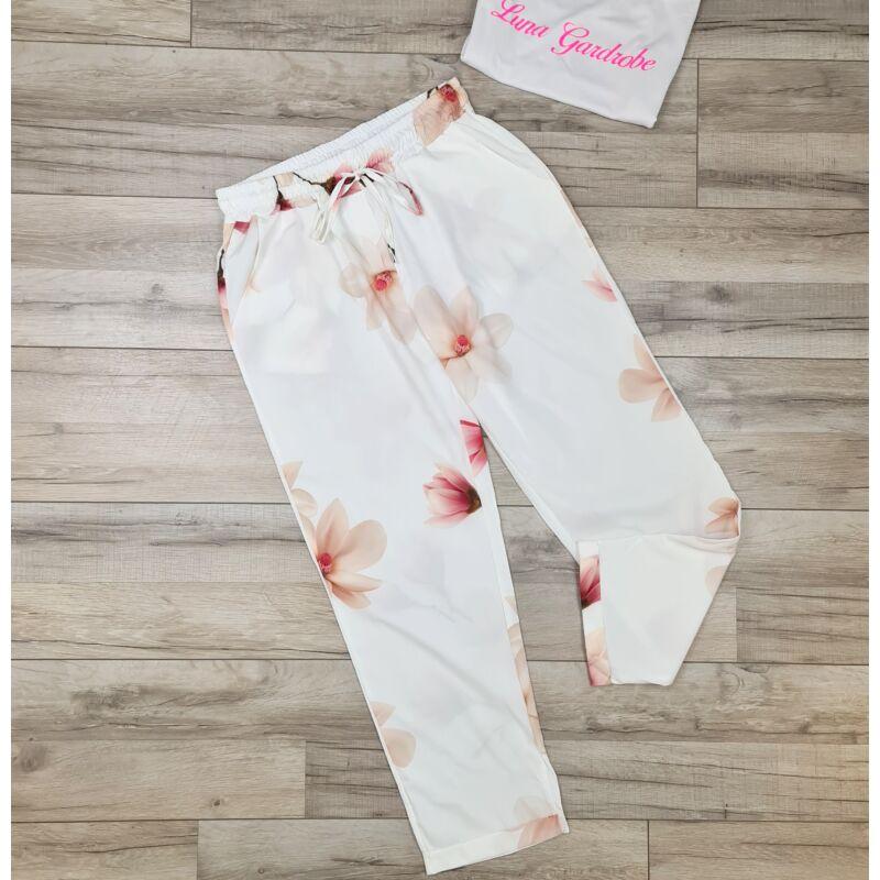 Mangólia virágos nadrág