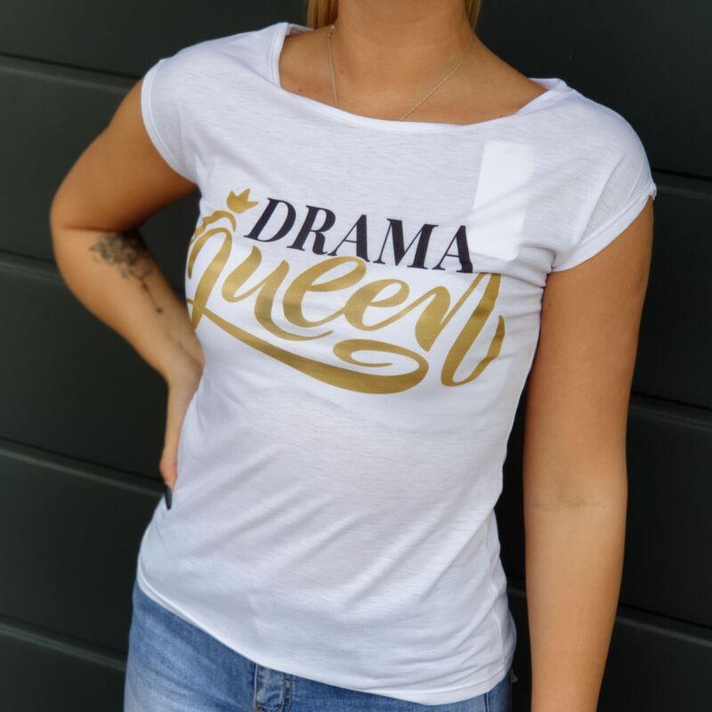 Drama Queen feliratos pamut póló