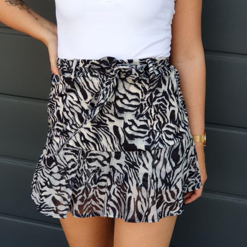 Zebra mintás fodros szoknya