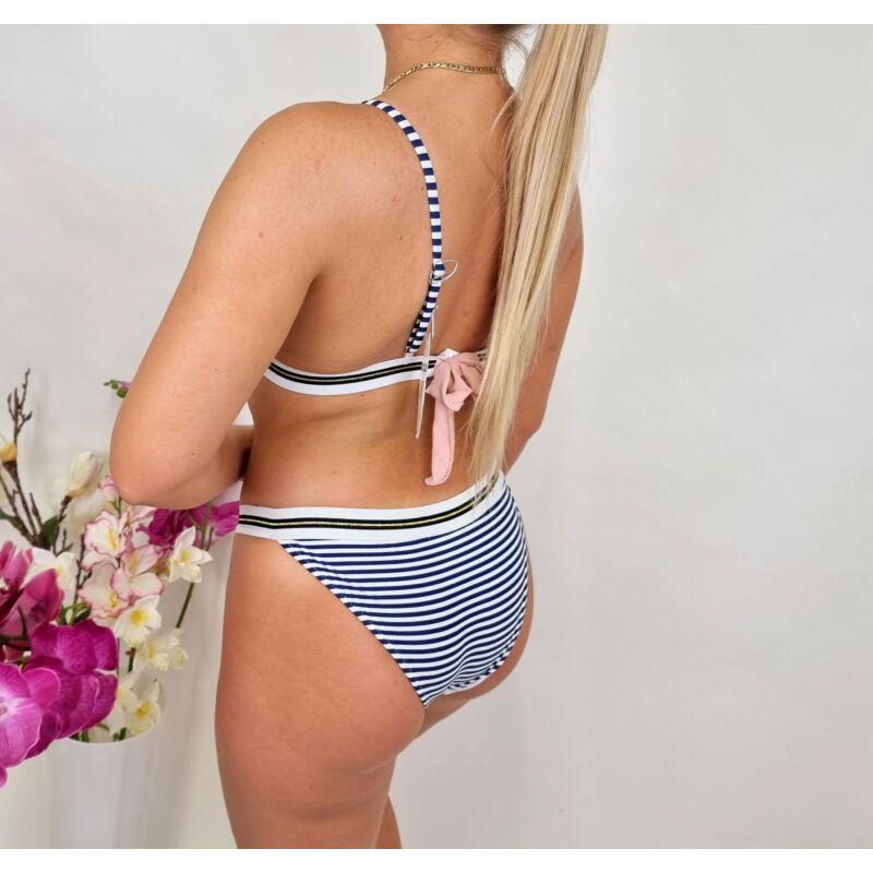Csíkos, szivacsos bikini