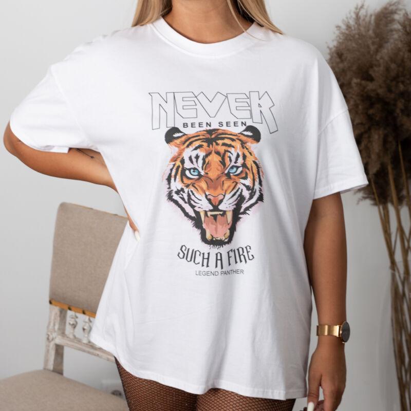 Tigris mintás, pamut tunika