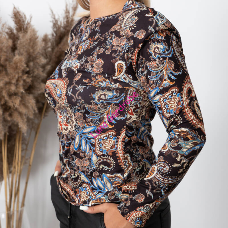 Pihe-puha, mintás hosszú ujjú pulóver