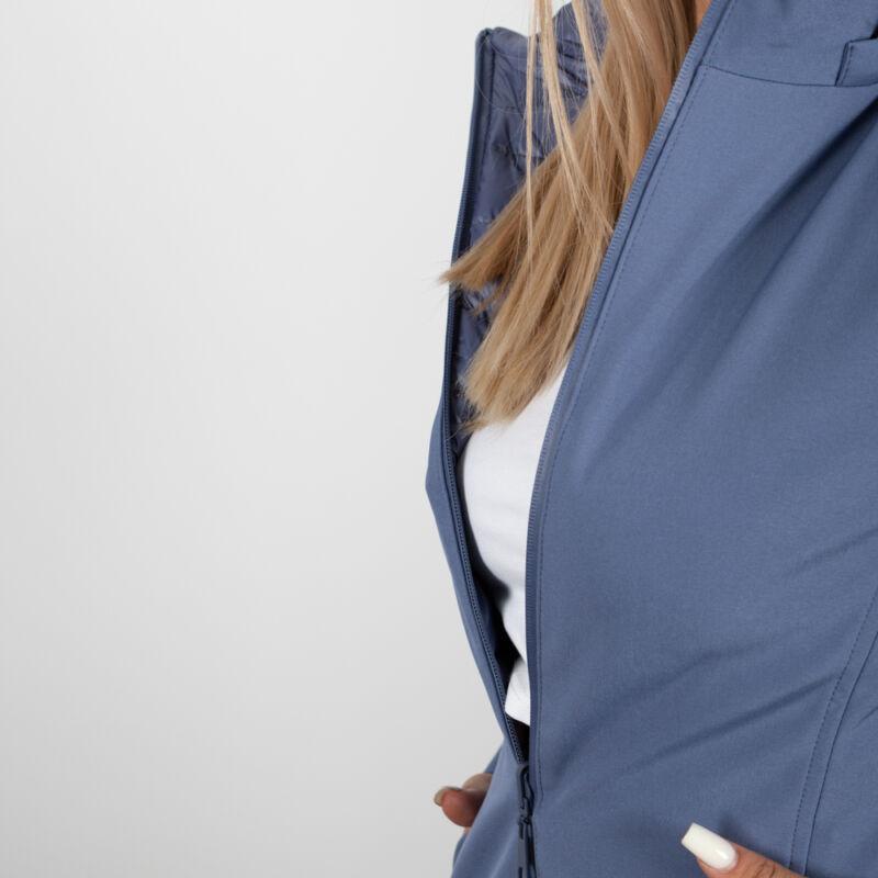 Kifordítható, kapucnis egyik oldalán steppelt, hosszított kabát