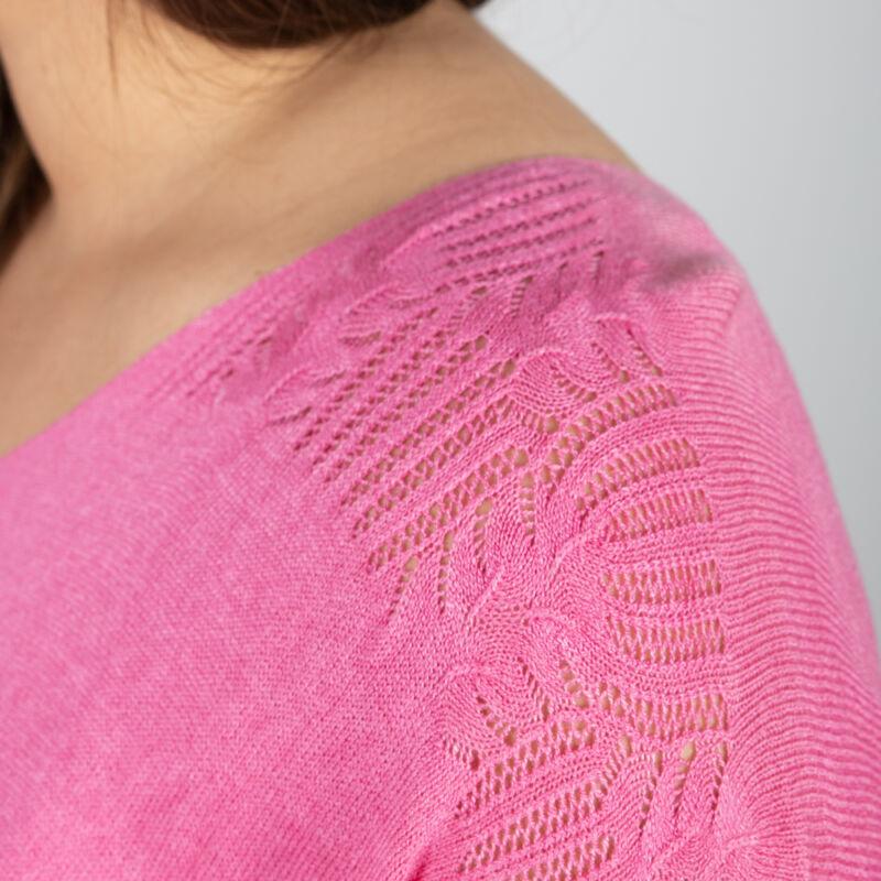 Fimomkötött laza pulóver