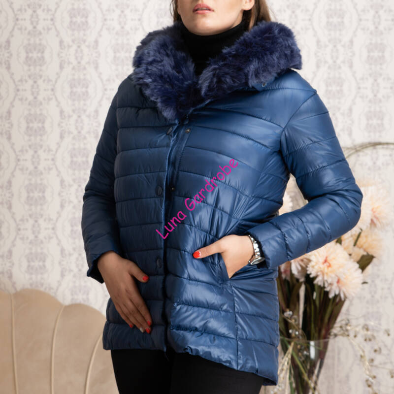 A vonalú, steppelt szőrmés kabát