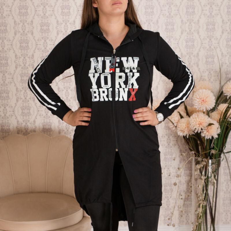 New York feliratos aszimmetrikus cipes tunika