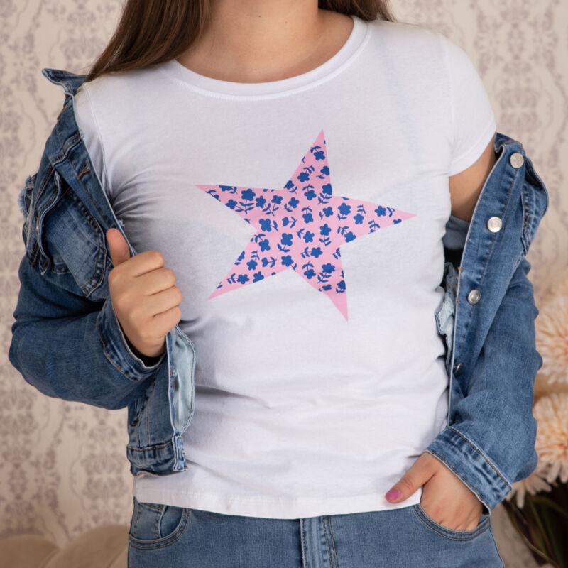 Csillag mintás pamut póló