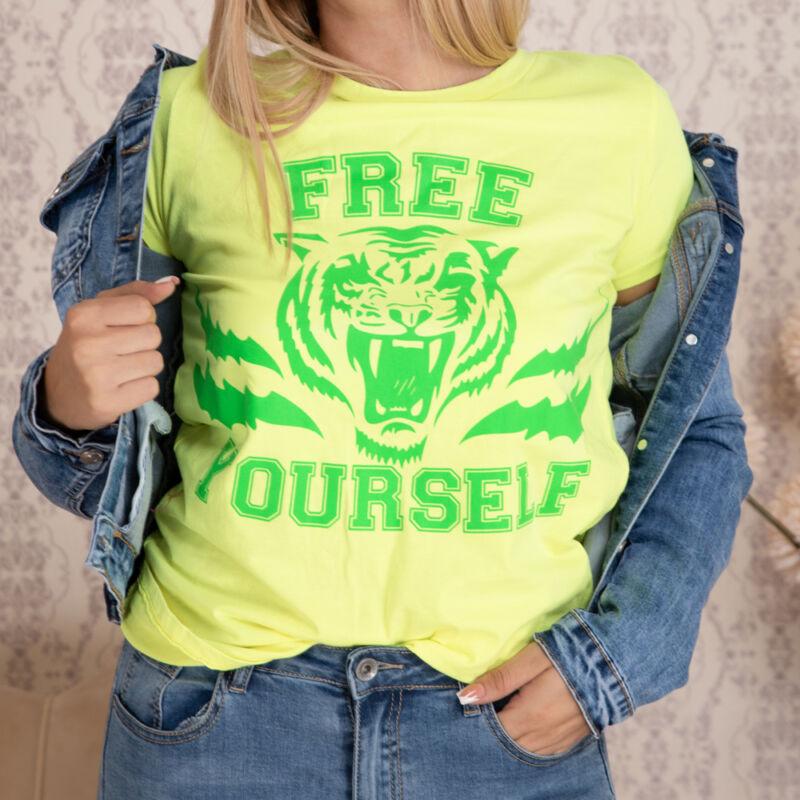 Tigris mintás pamut póló