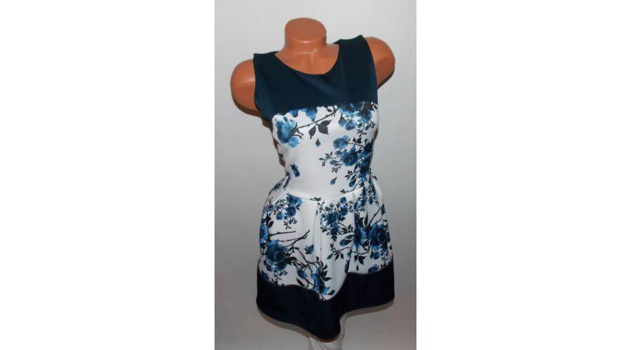 bb0cc64e92 Rózsa mintás deréktól bővülő ruha - Ruha - Luna Gardrobe Női ruha ...