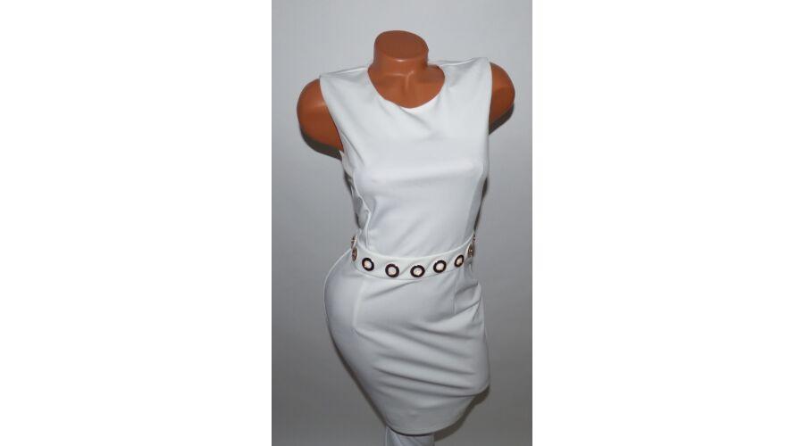 Fehér aranykarikás ruha - Alkalmi Ruházat - Luna Gardrobe Női ruha ... f00faccbcc