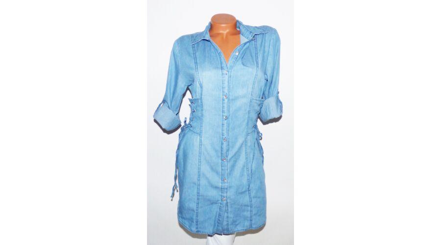 9911480161 Oldalán fűzős farmer-ruha - Ruha - Luna Gardrobe Női ruha WebÁruház ...