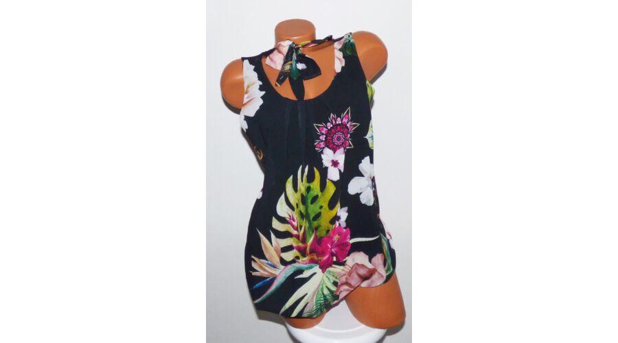 Virágmintás lenge felső - Póló   Pulóver - Luna Gardrobe Női ruha WebÁruház 96e7fc1121