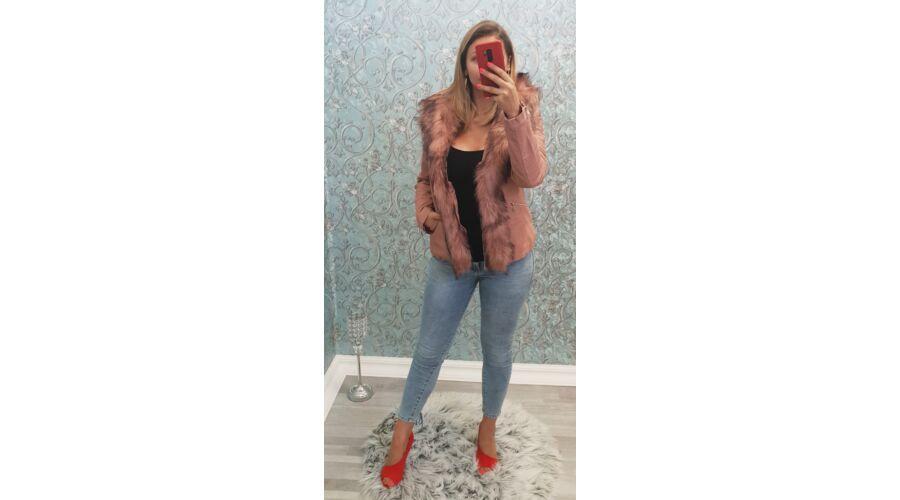 Bélelt szőrmés kabát - AKCIÓS Termékek - Luna Gardrobe Női ruha ... e125cd8af9