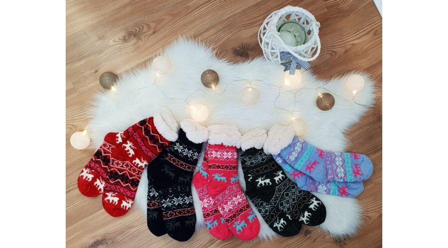 Pihe-puha thermo karácsonyi zokni  szilikonpöttyök Katt rá a felnagyításhoz becdecd8dc