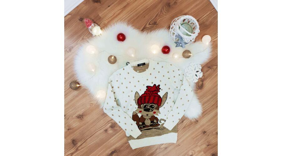 Cuki róka mintás karácsonyi pulóver - Póló   Pulóver - Luna Gardrobe ... e990682aa3