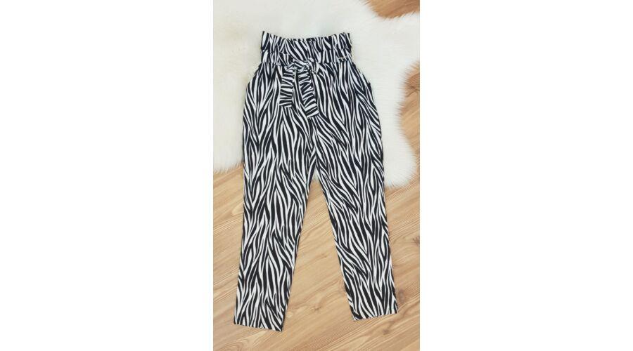 81c9b8bbae Zebra mintás nadrág + öv - AKCIÓS Termékek - Luna Gardrobe Női ruha ...