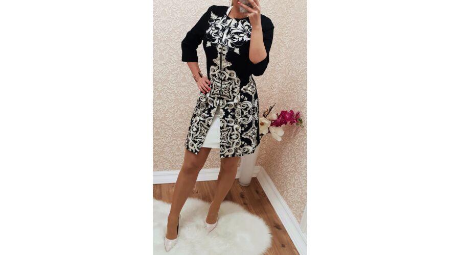 a108ffcb51 Mintás hosszított elegáns kabát - Dzseki / Kabát - Luna Gardrobe Női ...