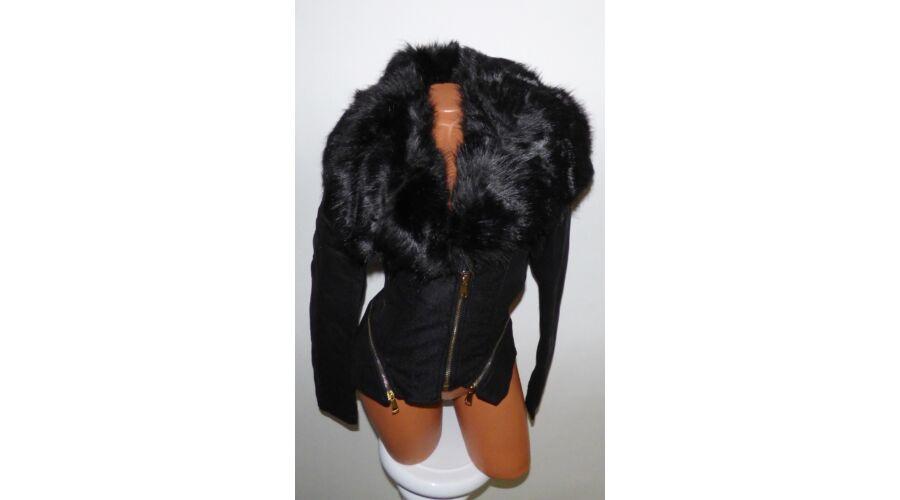Fekete szőrmés kabát - Dzseki   Kabát - Luna Gardrobe Női ruha ... 1566280ffb