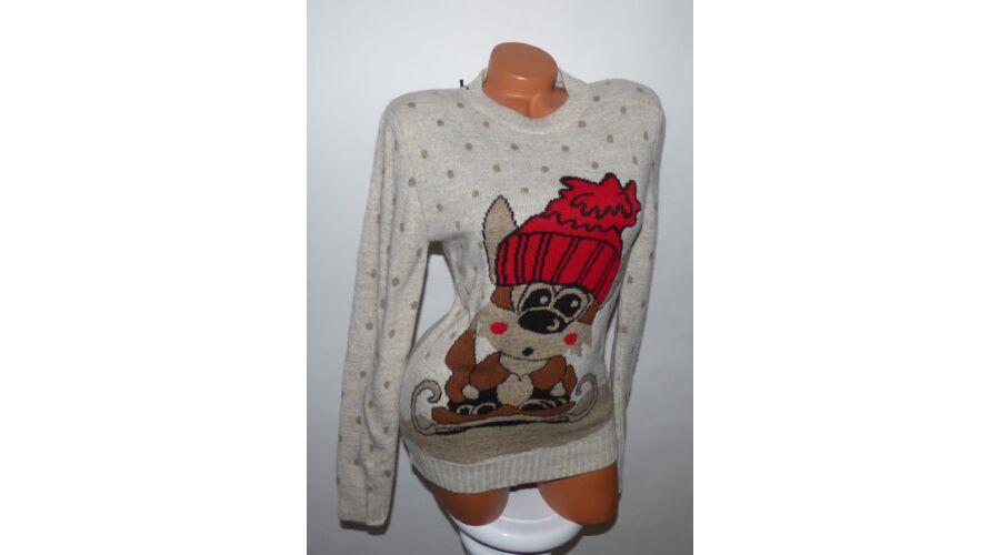 bd28b19f4c Cuki róka mintás karácsonyi pulóver - Póló / Pulóver - Luna Gardrobe ...