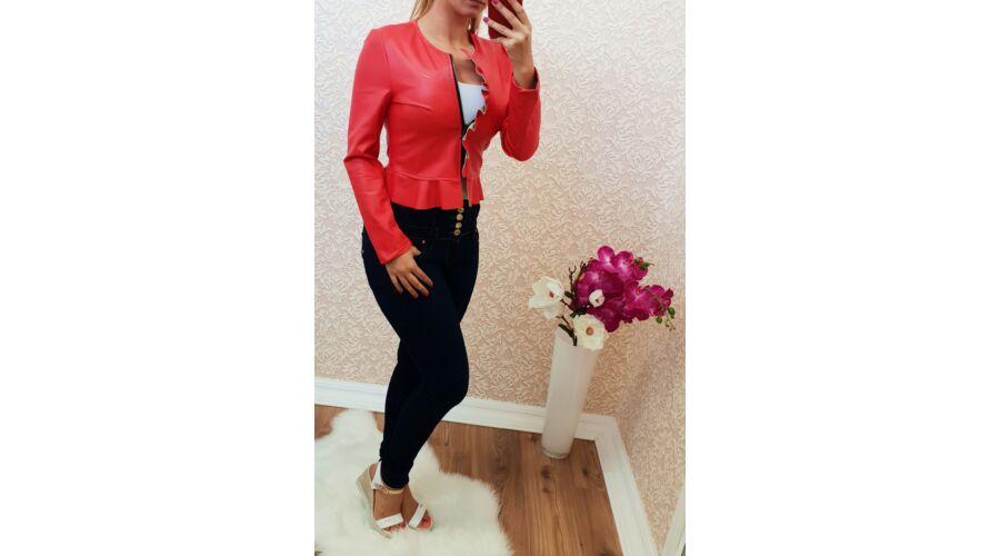 e8dbcd468 Piros műbőr blézer - Kardigán - Luna Gardrobe Női ruha WebÁruház ...