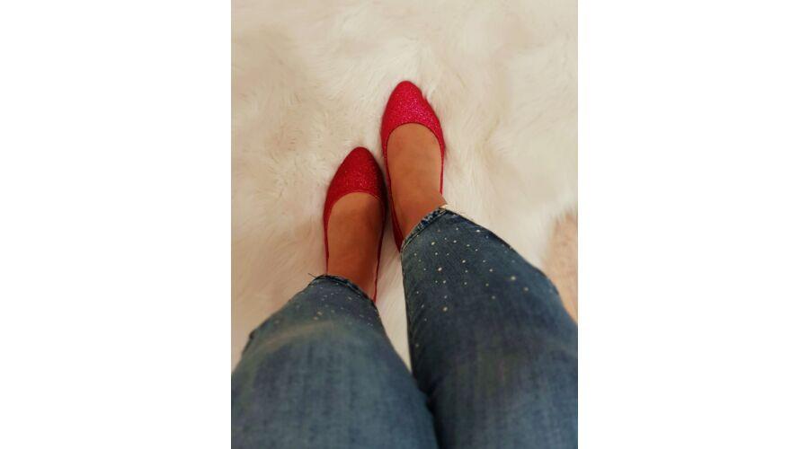 8c89acdefb Csillogós balerina cipő - AKCIÓS Termékek - Luna Gardrobe Női ruha ...