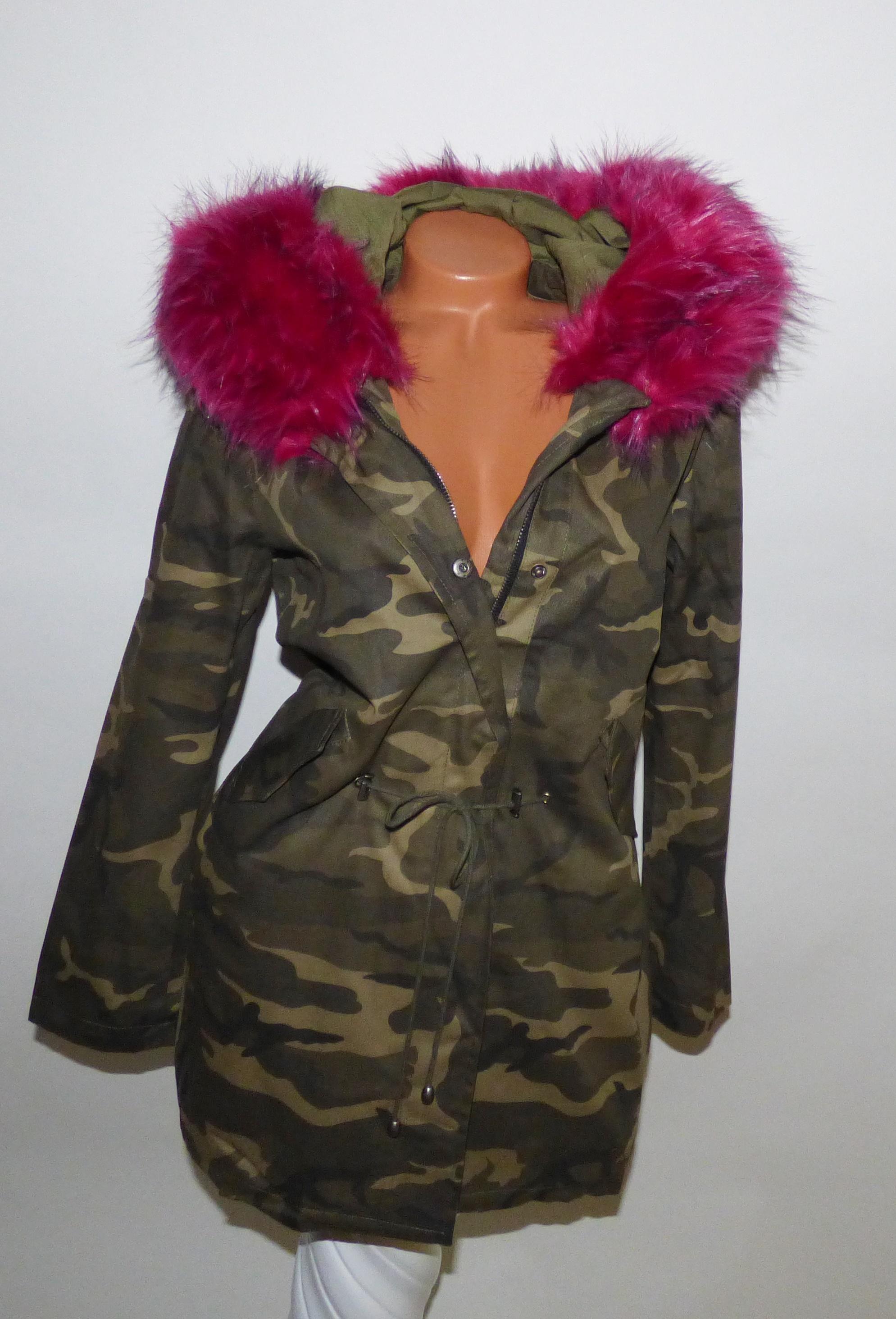 Terepmintás DZSEKI rózsaszín szőrmével - Dzseki   Kabát - Luna Gardrobe Női  ruha WebÁruház 8154473c1c