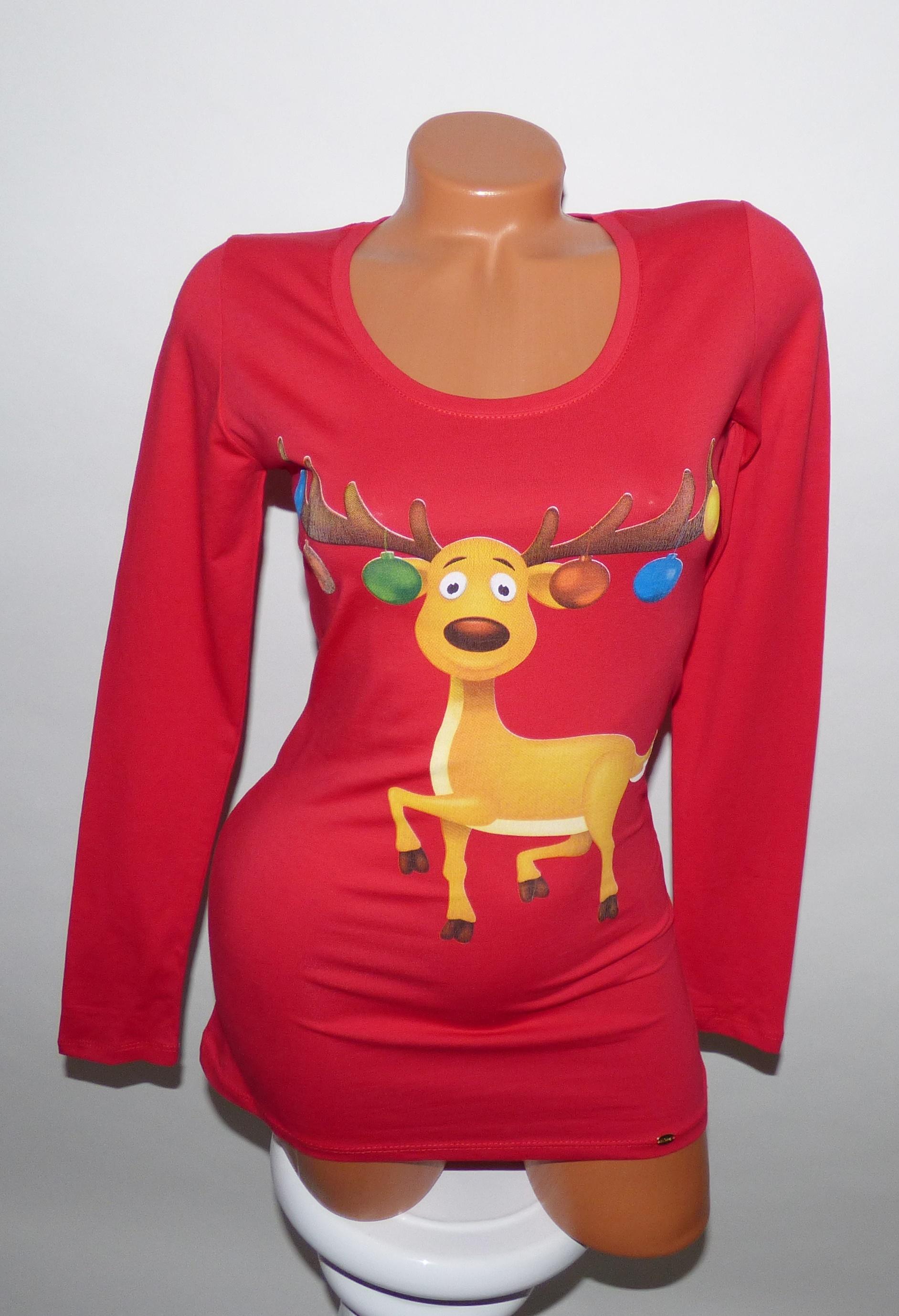 f020aafd12 Cuki karácsonyi pulcsi - Póló / Pulóver - Luna Gardrobe Női ruha WebÁruház,  Akciós - olcsó női ruha, Női ruha webshop, Online trendi - divatos ruha