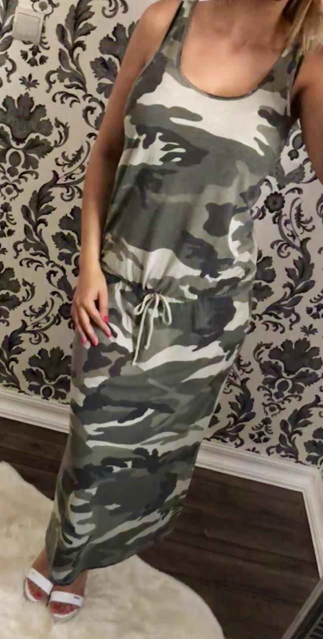 7594a48e02 Terepmintás maxi-ruha - Ruha - Luna Gardrobe Női ruha WebÁruház, Akciós -  olcsó női ruha, Női ruha webshop, Online trendi - divatos ruha