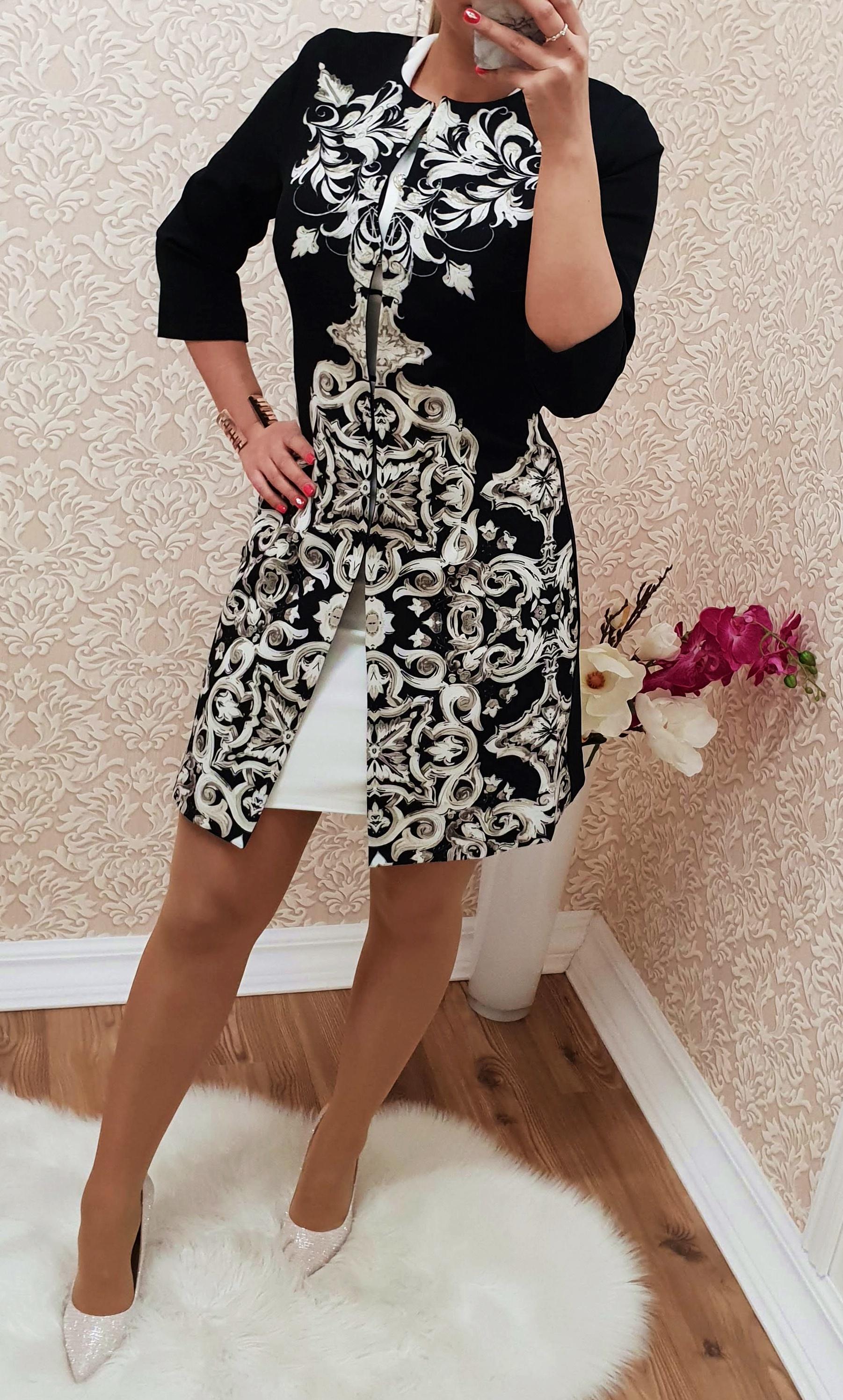 85662b1b0b Mintás hosszított elegáns kabát - Alkalmi Ruházat - Luna Gardrobe Női ruha  WebÁruház, Akciós - olcsó női ruha, Női ruha webshop, Online trendi -  divatos ...